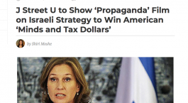 Pro-Israel news outlet slams J Street U for screening film about pro-Israel media bias
