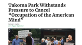 Takoma Park Withstands Pressure to Cancel
